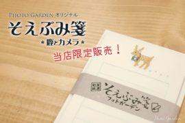 【オンライン購入可能になりました!】PHOTO GARDEN オリジナル そえぶみ箋 *鹿とカメラ*
