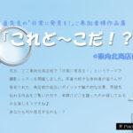 林 直先生の「日常に発見を!」ご参加者作品展「これど~こだ!?」@東向北商店街